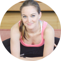 Yoga challenge teacher Erin Motz.