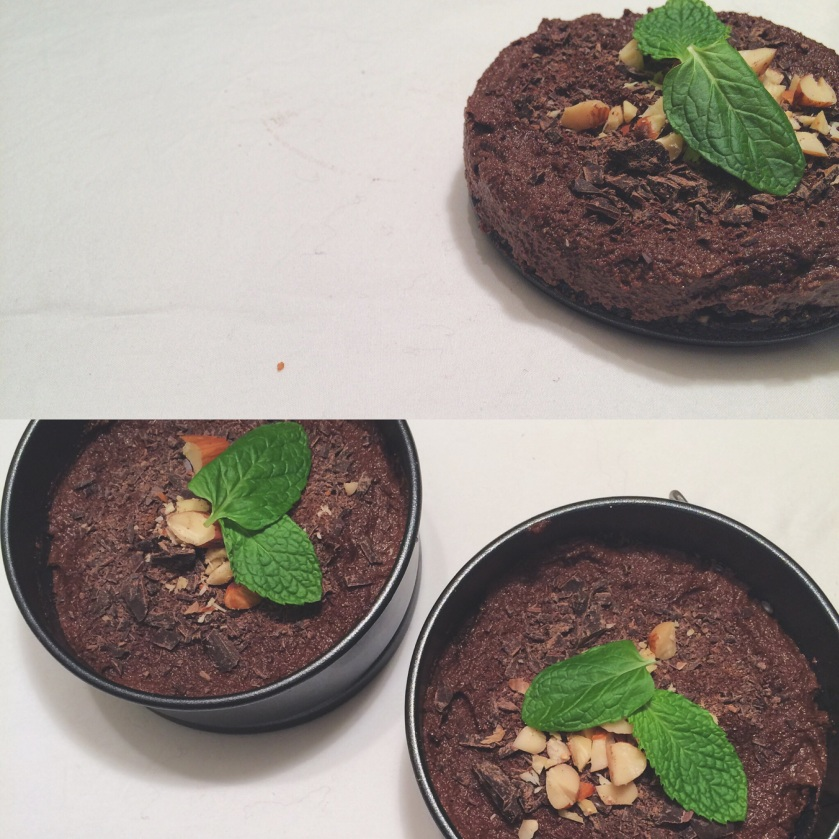 No Bake Mini Chocolate-Mint Cheesecake.