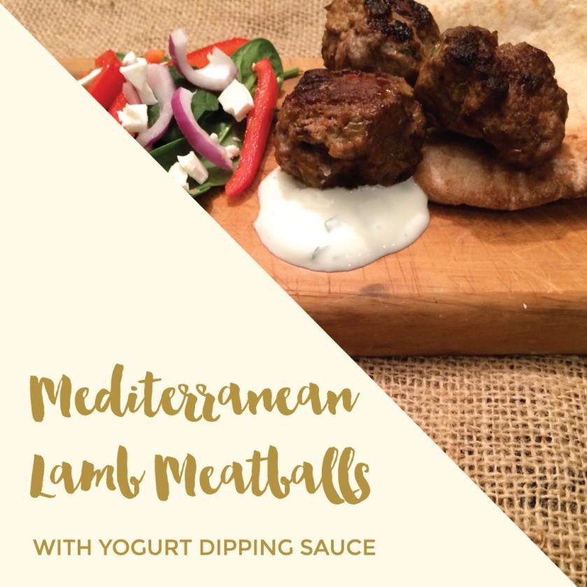 Mediterranean Lamb Meatballs.