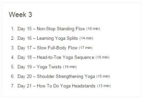 Week 03 - 30 Day Yoga Challenge.