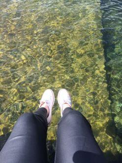 Dangling my feet over Lake Rotoiti.