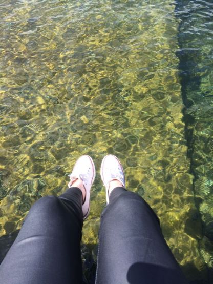 Dangling my feet over Lake Rotoiti.