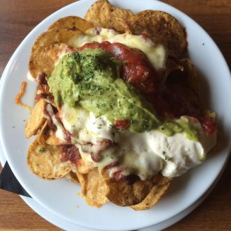 Beef Nachos with guacamole.