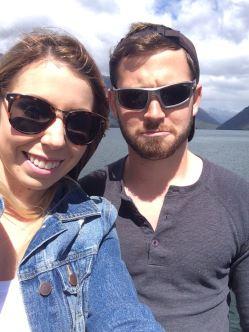 Pulling faces at Lake Rotoiti.