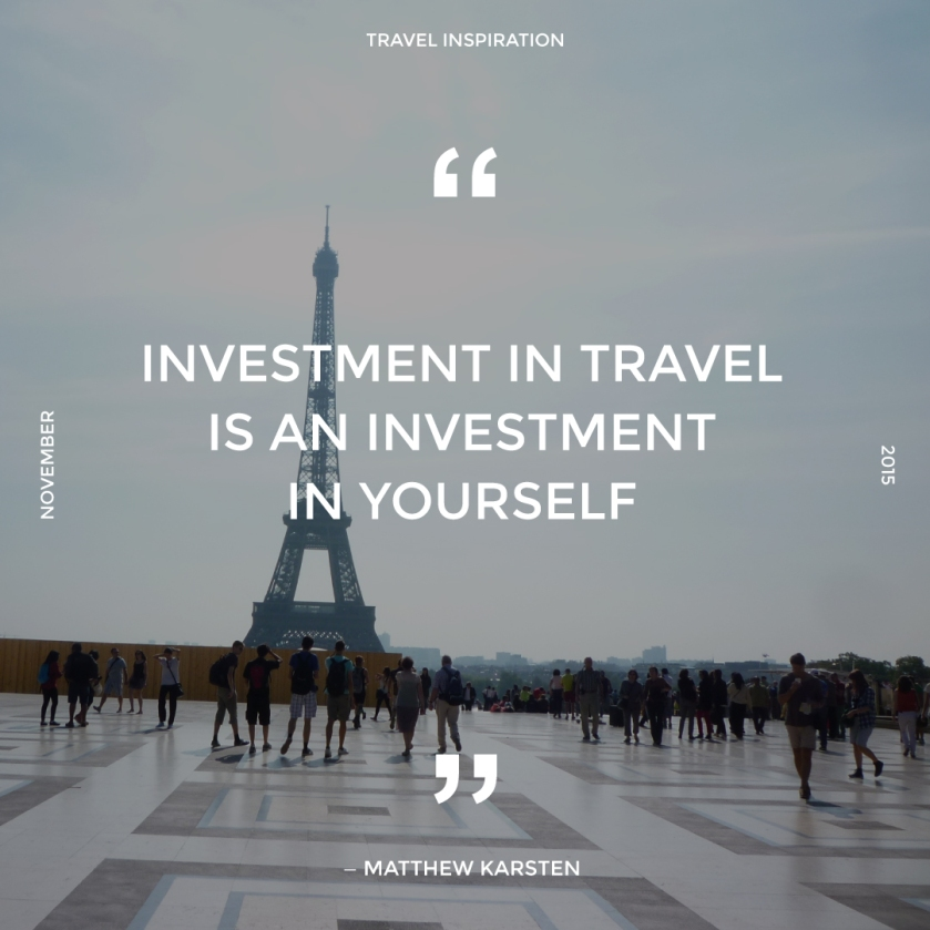 Travel quote by Matthew Karsten.